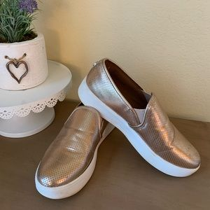 STEVE MADDEN Gracy Rose Gold Platform Shoes in 8.5